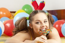 Free Young Woman Having Fun Playing Royalty Free Stock Images - 16700459