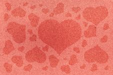 Free Grunge Paper Vintage Red Hearts Stock Images - 16700464