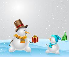 Free Snowmen. Stock Photos - 16701153