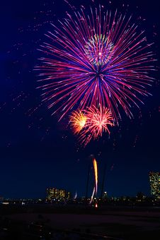Beautiful Fireworks Display Royalty Free Stock Photo