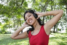 Free Woman Listening To Music Stock Images - 16701464