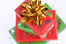 Free Gifts And Star Shaped Confetti Royalty Free Stock Image - 16701626