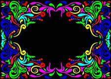 Frame With Pattern Stock Photography