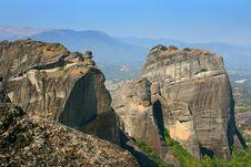 Meteora Rock, Greece Royalty Free Stock Photos