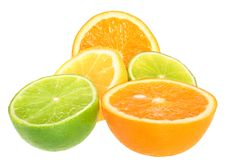Free Orange, Lime And Lemon. Stock Image - 16701801