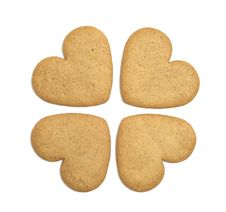 Free Four Gingerbread Cookies Stock Photography - 16701832