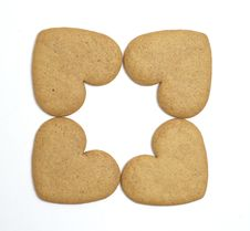 Free Four Gingerbread Cookies Stock Photos - 16701833