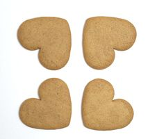 Free Four Gingerbread Cookies Royalty Free Stock Image - 16701836