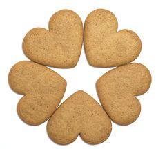 Free Five Gingerbread Cookies Negative Space Star Stock Image - 16701841