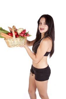 Free Fitness Holding Vegetables Royalty Free Stock Photos - 16704038