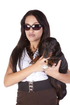 Free Woman Dog Looking Stock Photography - 16704212