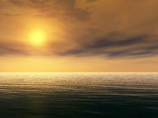 Free Ocean Sunset Royalty Free Stock Photo - 16704515