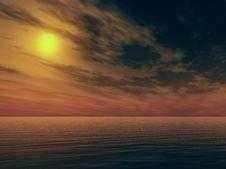 Free Ocean Sunset Stock Image - 16704531