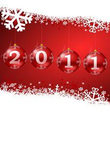 2011 New Year Illustration Royalty Free Stock Photos