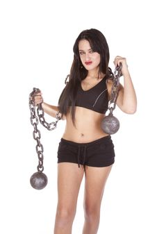 Free Fitness Woman Chain Smile Royalty Free Stock Photo - 16704835