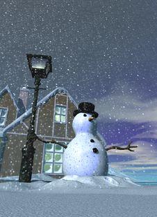 Snowman 3 Stock Photography