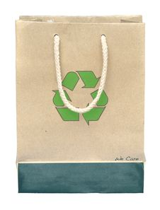 Recycle Paper Bag With Recycle Symbol Royalty Free Stock Image
