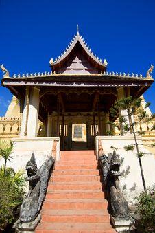 Free Lao Temple Royalty Free Stock Photos - 16706128
