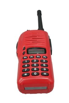 Red Walkie Talkie Royalty Free Stock Image