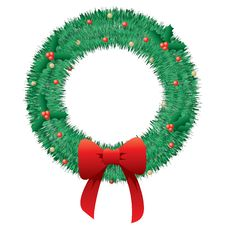 Free Christmas Wreath Royalty Free Stock Photography - 16706277