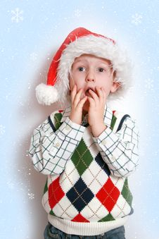 Free Boy With Santa-hat, Smiling Stock Photography - 16706662