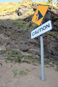 Free Landslide Caution Sign Stock Images - 16706804