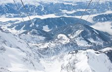 Free View From The Observation Deck. Dachstein .Austria Royalty Free Stock Photo - 16707065