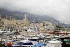 Free Monaco Boats View Royalty Free Stock Photo - 16707075