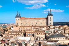 Free Panoramic View On Alcazar Fortified Palace, Toledo Royalty Free Stock Photography - 16707077