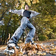Free Fast Rollerblading Stock Photography - 16707882