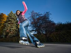 Free Fast Rollerblading Stock Photography - 16707892