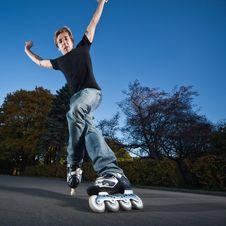 Free Fast Rollerblading Stock Photo - 16707900