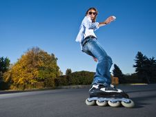Free Fast Rollerblading Royalty Free Stock Photography - 16707907