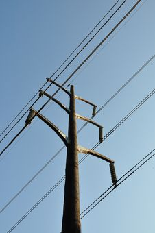 Free Wooden Electrical Pole Stock Image - 16708251