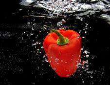 Free Red Pepper Splashing In Water Royalty Free Stock Image - 16708656