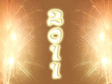 New Year 2011 Fireworks Royalty Free Stock Photo