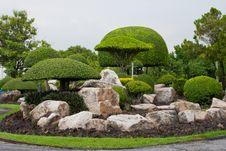 Garden Stone Stock Photo