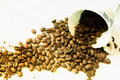 Free Coffee Cup And Coffee Beans Royalty Free Stock Images - 16714809