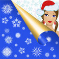 Free Snow Maiden In Snowflakes Stock Images - 16718344
