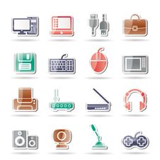 Free Computer Equipment And Periphery Icons Royalty Free Stock Photography - 16710067