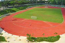 Free Small Stadium With Running Track Royalty Free Stock Photos - 16710258