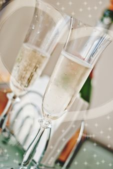 Free Two Glasses With Champagne Stock Photography - 16710292