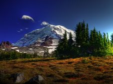 Free Mount Rainier And Spray Park Stock Photo - 16710800