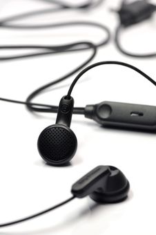 Free Black Earphone. Stock Photos - 16711033