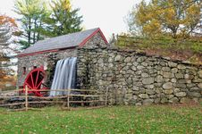 Free Grist Mill View Royalty Free Stock Photos - 16711058