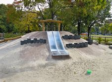 Free Slide In Childrens Playground Royalty Free Stock Photos - 16711138