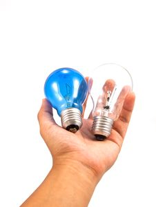 Free Lightbulb In Hand Stock Images - 16711144