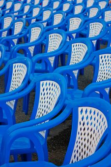 Free Blue Chair In Party Royalty Free Stock Image - 16711936