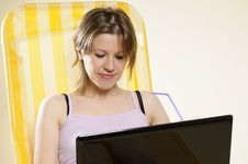 Free Woman Searching On Internet Royalty Free Stock Photo - 16713005