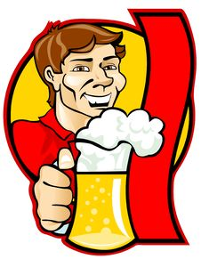 Man With A Beer Royalty Free Stock Images